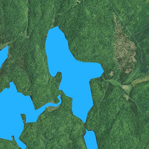 Fly fishing map for Timber Lake, Minnesota