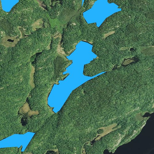Fly fishing map for Tin Can Mike Lake, Minnesota
