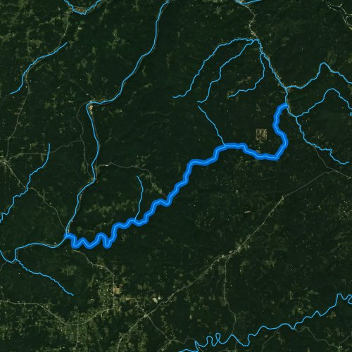 Fly fishing map for Tionesta Creek, Pennsylvania