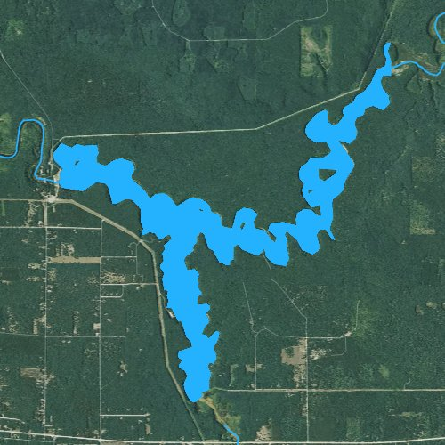 Fly fishing map for Tippy Dam, Michigan