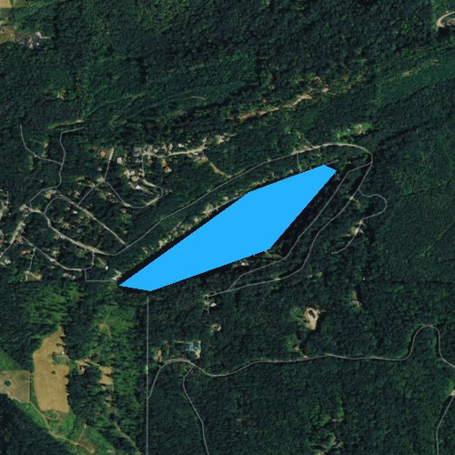 Fly fishing map for Toad Lake, Washington