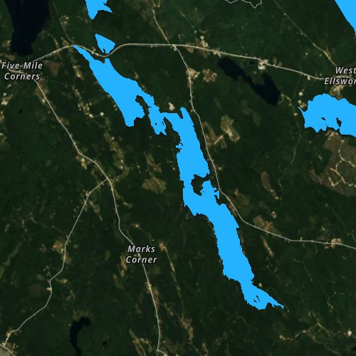 Fly fishing map for Toddy Pond, Maine