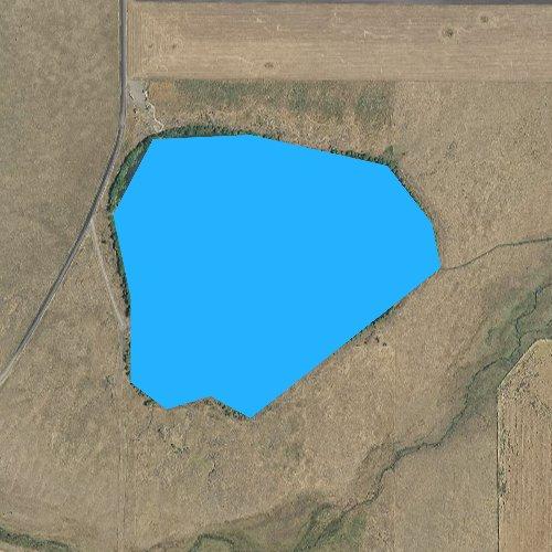Fly fishing map for Tolo Lake, Idaho