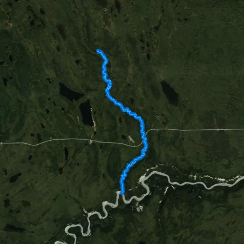 Fly fishing map for Tolsona Creek, Alaska