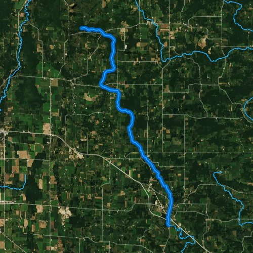 Fly fishing map for Tomorrow River, Wisconsin