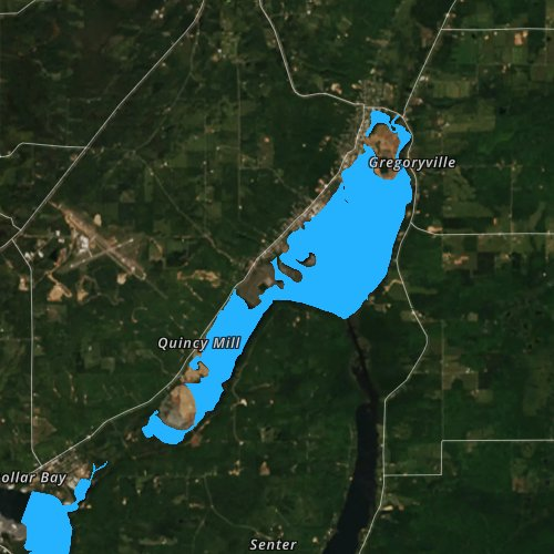 Fly fishing map for Torch Lake: Houghton, Michigan