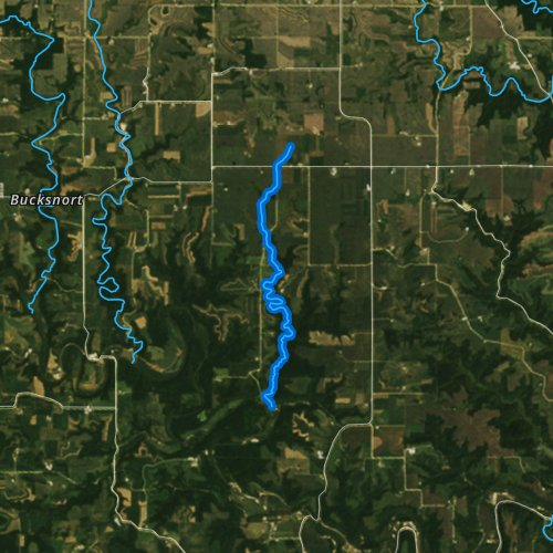 Fly fishing map for Torkelson Creek, Minnesota