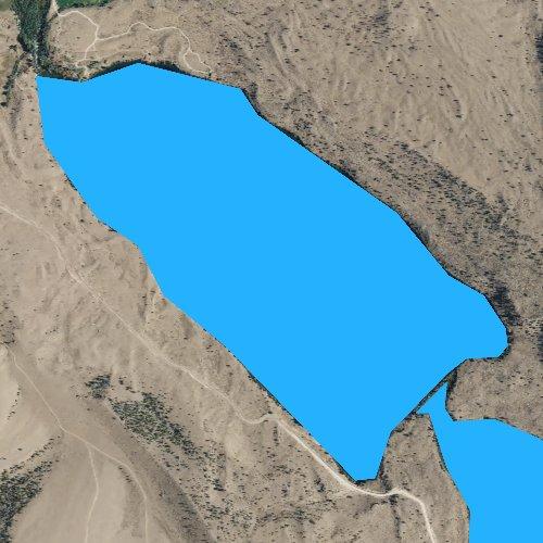 Fly fishing map for Torrey Lake, Wyoming