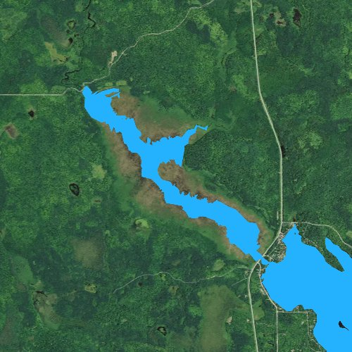 Fly fishing map for Totagatic Flowage, Wisconsin