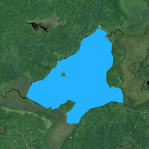 Fly fishing map for Totagatic Lake, Wisconsin
