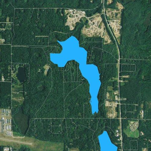Fly fishing map for Towanda Lake, Wisconsin