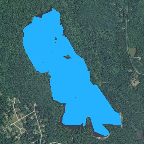 Fly fishing map for Tower Hill Pond, New Hampshire