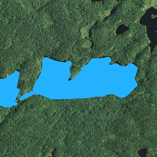 Fly fishing map for Town Lake: Cook, Minnesota