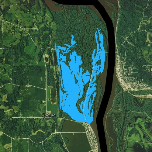 Fly fishing map for Town Lake, Iowa