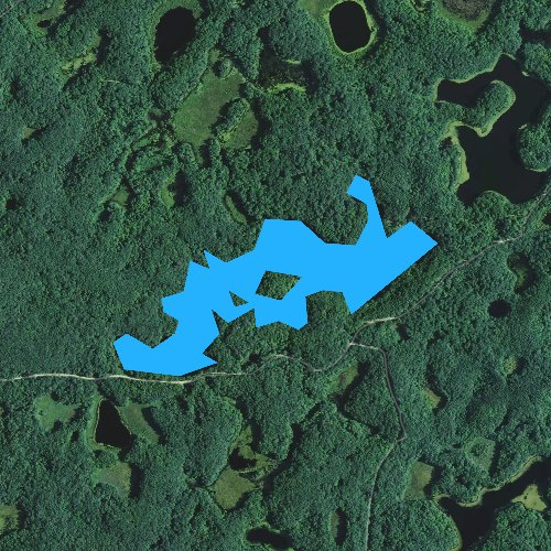 Fly fishing map for Town Line Lake, Wisconsin