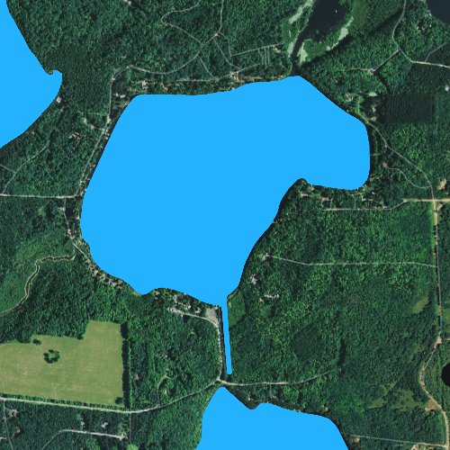 Fly fishing map for Townline Lake: Oneida, Wisconsin