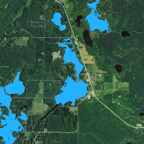 Fly fishing map for Townsend Flowage, Wisconsin