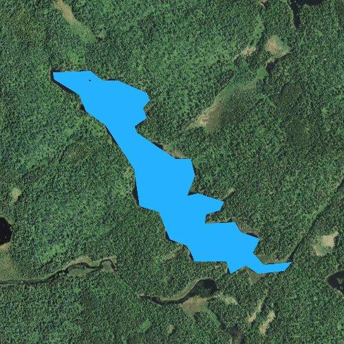Fly fishing map for Trail Lake, Minnesota