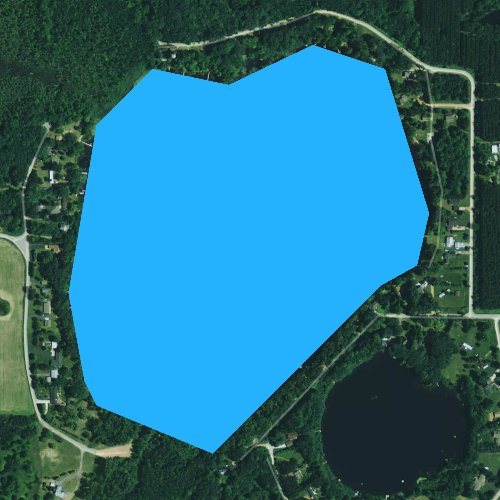 Fly fishing map for Tree Lake, Wisconsin