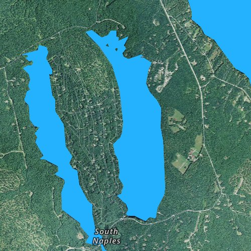 Fly fishing map for Trickey Pond, Maine