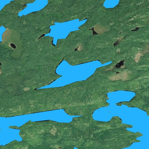 Fly fishing map for Trident Lake, Minnesota