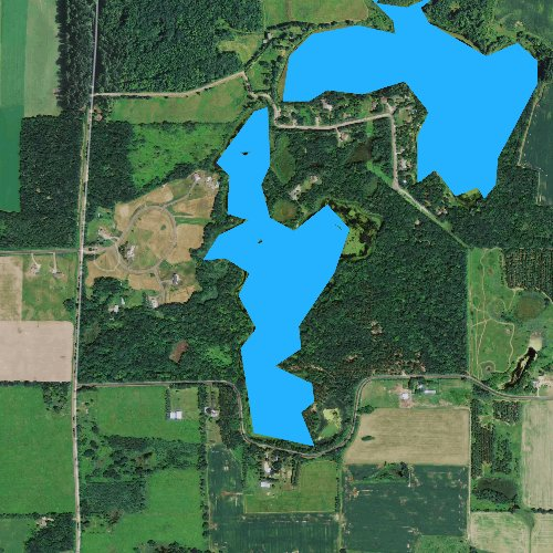 Fly fishing map for Trident Lake, Wisconsin