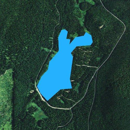 Fly fishing map for Trillium Lake, Oregon