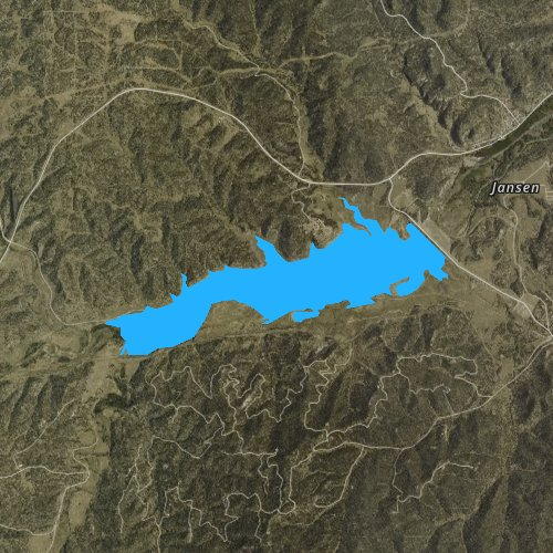 Fly fishing map for Trinidad Lake, Colorado