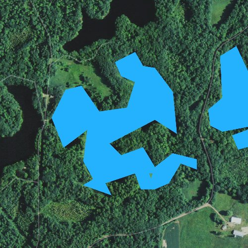 Fly fishing map for Triple Lakes, Wisconsin