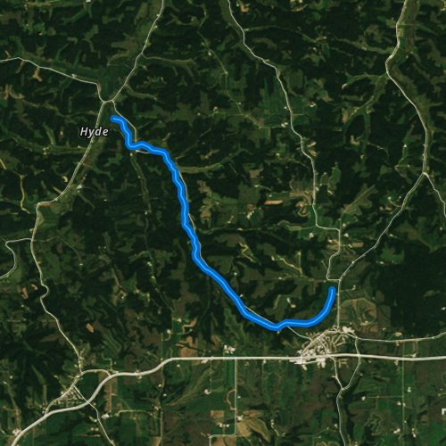 Fly fishing map for Trout Creek, Wisconsin