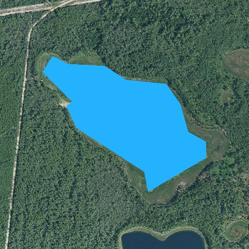 Fly fishing map for Trout Lake, Florida
