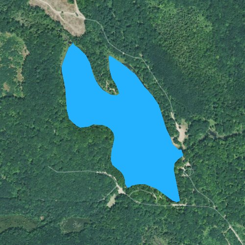 Fly fishing map for Trout Lake: Gladwin, Michigan