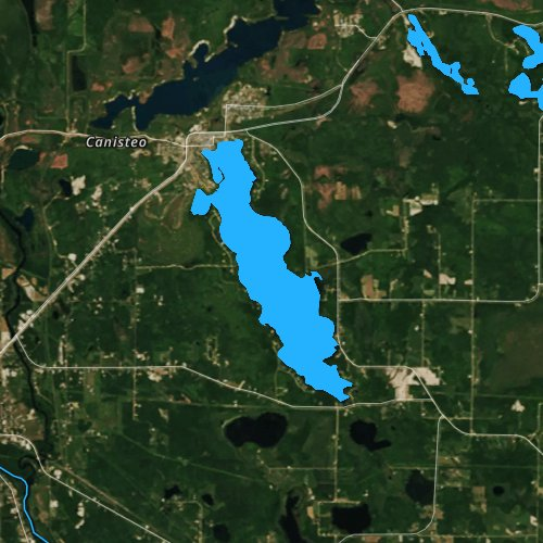 Fly fishing map for Trout Lake, Minnesota
