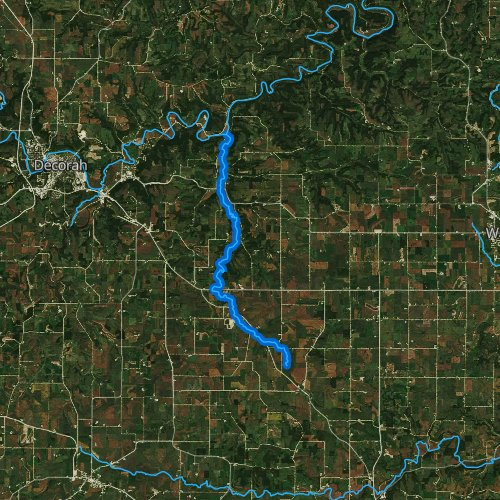 Fly fishing map for Trout River, Iowa