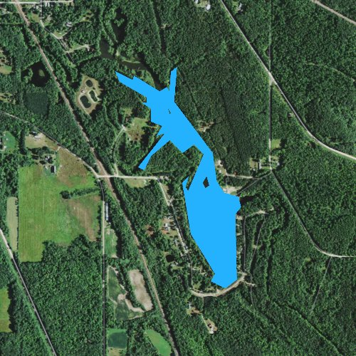 Fly fishing map for Trow Lake 70, Wisconsin