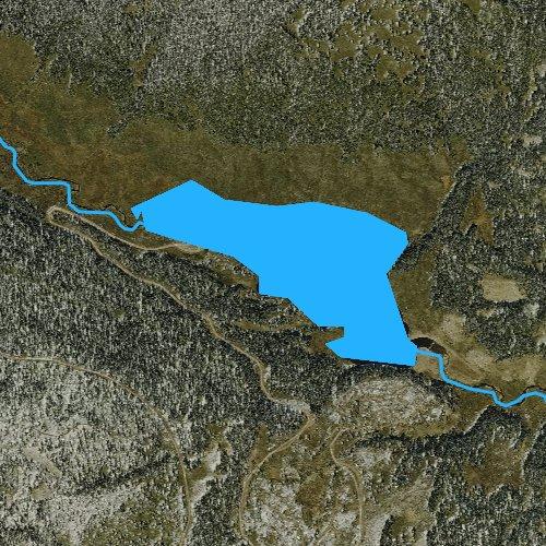 Fly fishing map for Trujillo Meadows Reservoir, Colorado