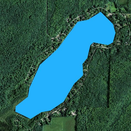 Fly fishing map for Trump Lake, Wisconsin