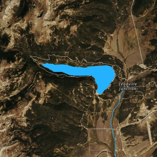 Fly fishing map for Turquoise Lake, Colorado