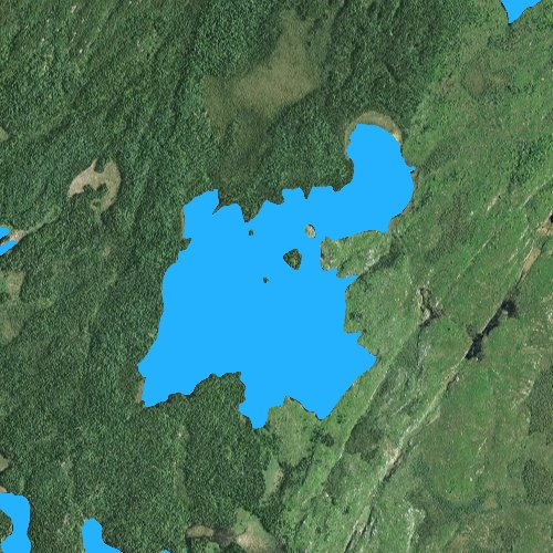 Fly fishing map for Turtle Lake: Lake, Minnesota