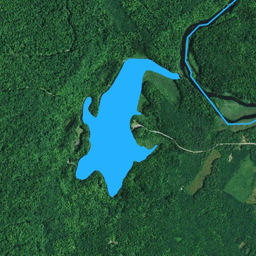 Fly fishing map for Turtle Lake: Langlade, Wisconsin