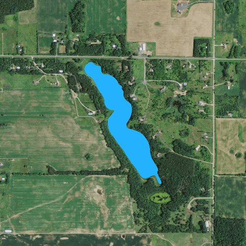 Fly fishing map for Turtle Lake: St. Croix, Wisconsin