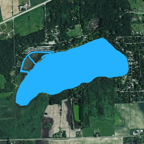 Fly fishing map for Turtle Lake: Walworth, Wisconsin