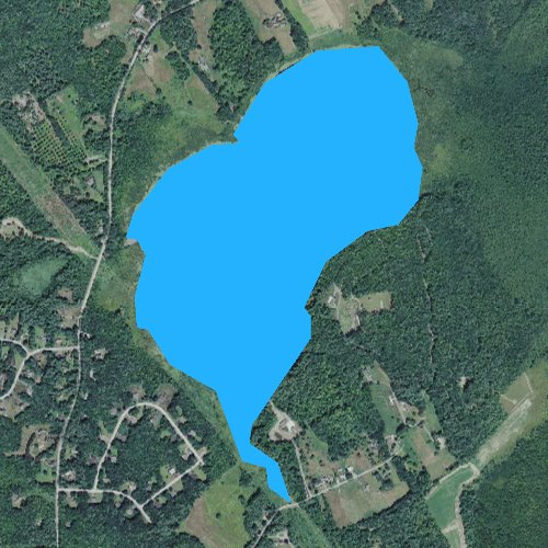 Fly fishing map for Turtle Pond, New Hampshire