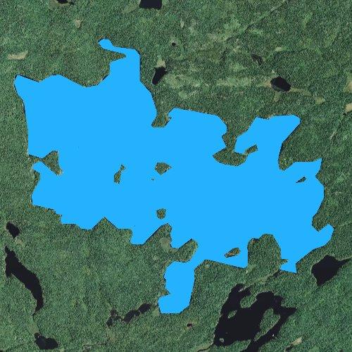 Fly fishing map for Tuscarora Lake, Minnesota