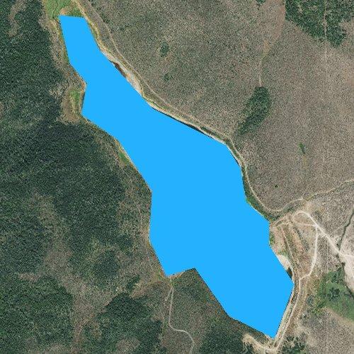 Fly fishing map for Twentyfour Mile Reservoir, Idaho