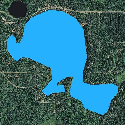 Fly fishing map for Twentysix Lake, Wisconsin