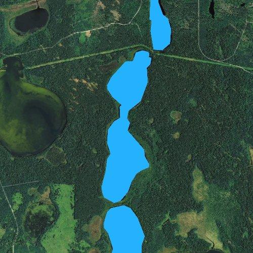 Fly fishing map for Twin Lake, Minnesota