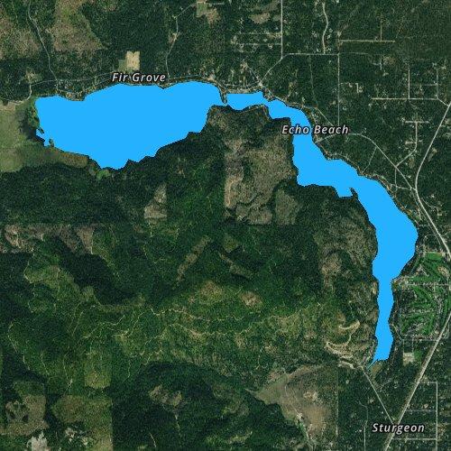 Fly fishing map for Twin Lakes, Idaho