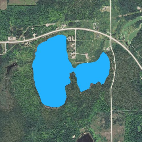 Fly fishing map for Twin Lakes: Luce, Michigan