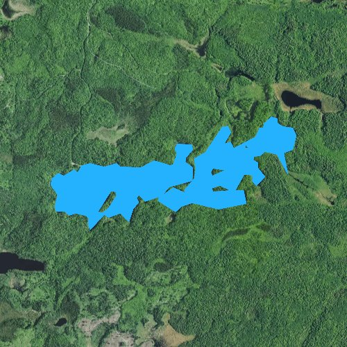 Fly fishing map for Twin Lakes, Minnesota